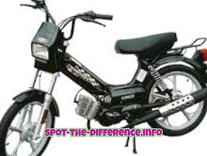 Mopeedi ja motorolleri erinevus
