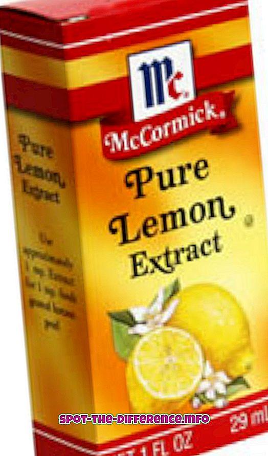 Unterschied zwischen Zitronenessenz und Zitronenextrakt