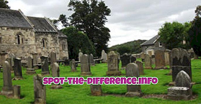 atšķirība starp: Atšķirība starp kapsētu un kapsētu
