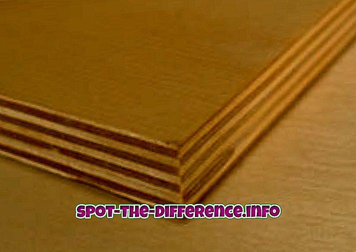 Różnica między sklejką z drewna iglastego i twardego drewna