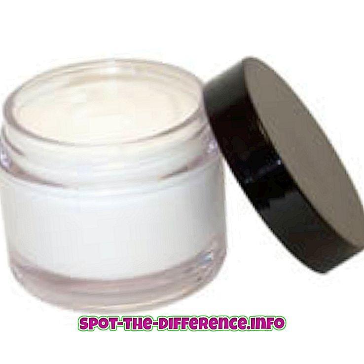 diferencia entre: Diferencia entre ungüento y crema.