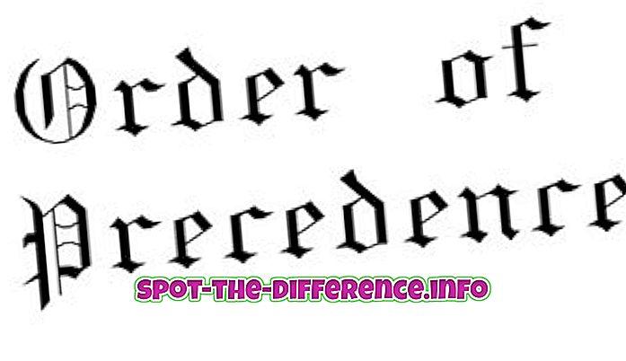 Starpība starp precedenci un precedentu