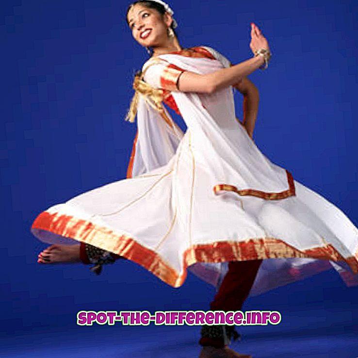 Kathaki ja Bharatnatyami tantsu vaheline erinevus