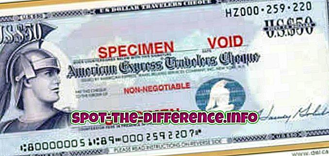 διαφορά μεταξύ: Διαφορά μεταξύ της επιταγής των ταξιδιωτών και του επιταγή του ταμείου