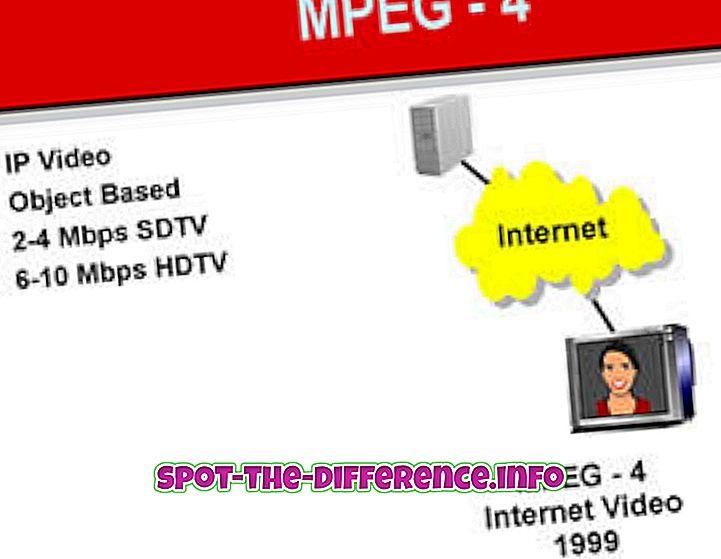 forskel mellem: Forskel mellem MPEG4 og MPEG7