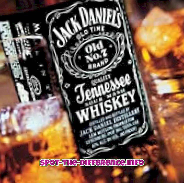 Verschil tussen whisky en bier
