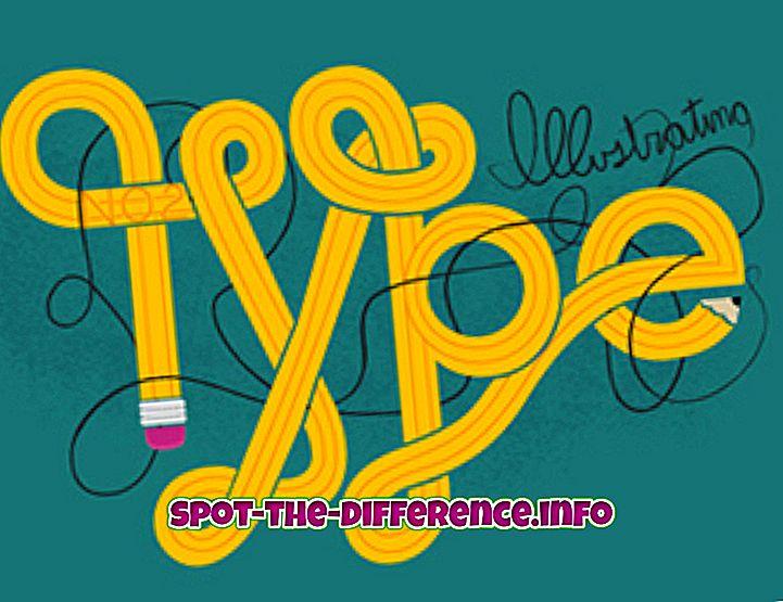 Verschil tussen type en vorm