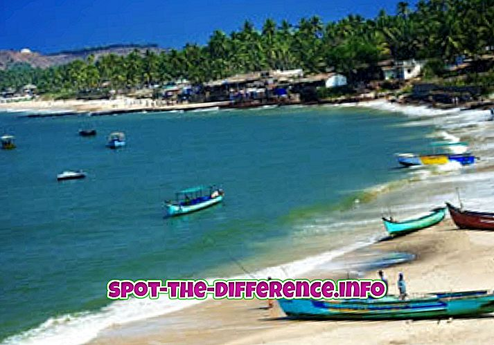 Differenza tra Goa Sud e Goa Nord