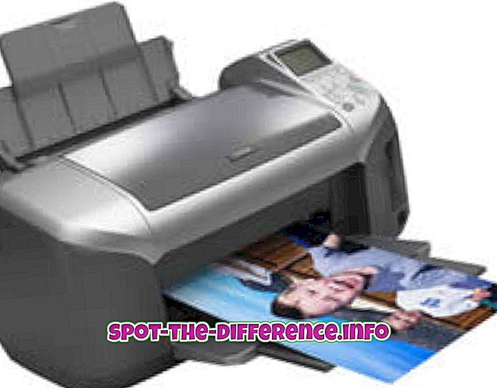Atšķirība starp printeriem un ploteriem