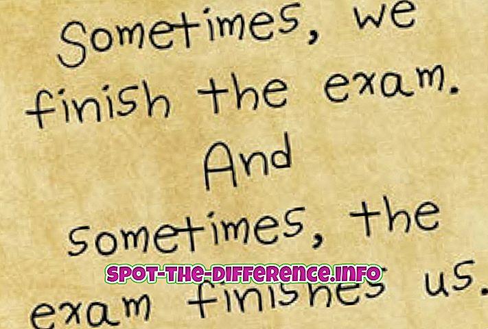 Perbedaan antara Selesai dan Atas