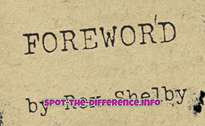 との差: はじめに、序文、および序文の違い