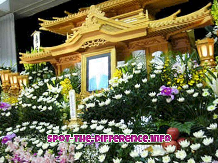 διαφορά μεταξύ: Διαφορά μεταξύ ταφή, κηδεία και καύση