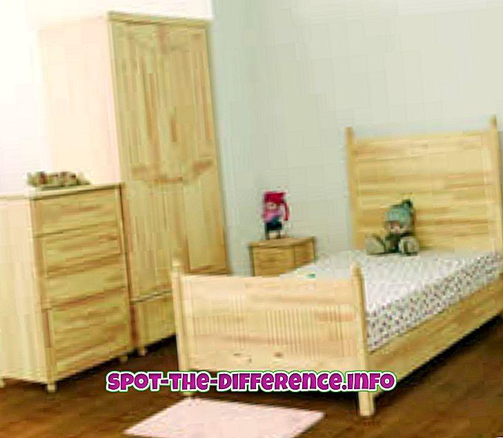 Sự khác biệt giữa gỗ thông và gỗ cao su