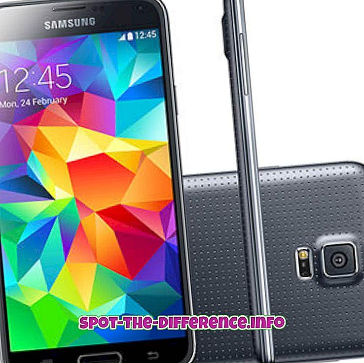 diferencia entre: Diferencia entre Samsung Galaxy S5 y S5 Mini