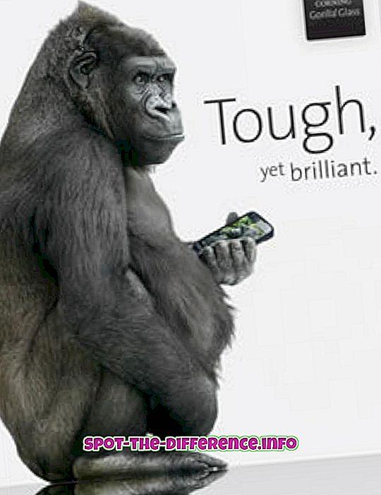 vahe: Gorilla klaasi 1, 2 ja 3 erinevus