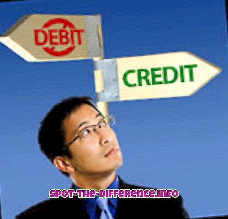 Różnica między debetem a kredytem