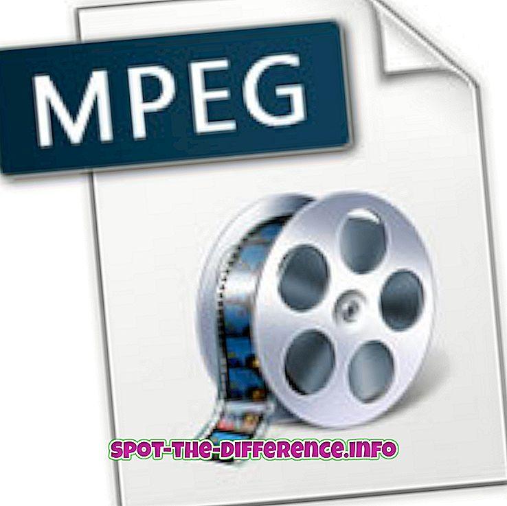 Rozdíl mezi MPEG a MPG