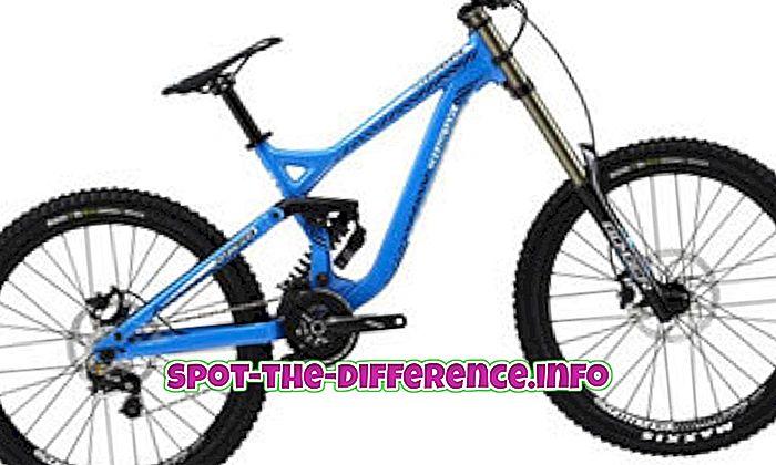 sự khác biệt giữa: Sự khác biệt giữa MTB và Road Bike