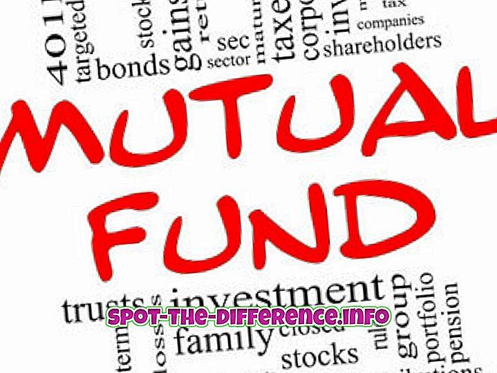 forskel mellem: Forskel mellem gensidig fond og ETF