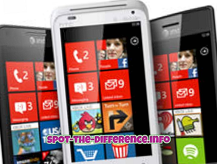 차이점: Windows Phone 7.5와 Windows Phone 8의 차이점