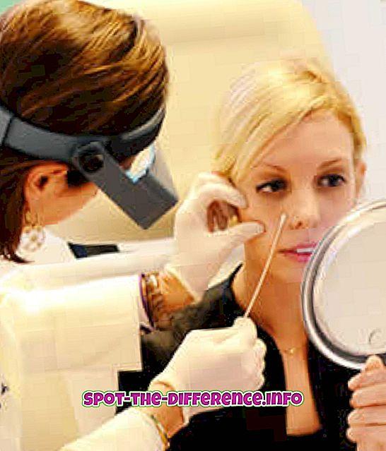 Forskjellen mellom hudlege og kosmetolog