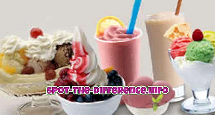 ความแตกต่างระหว่างไอศกรีมและขนมหวานแช่แข็ง
