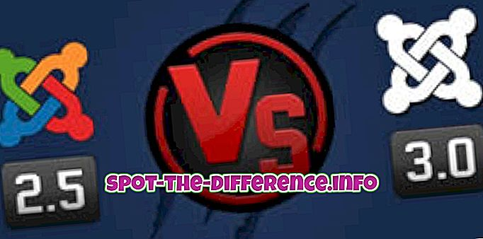 vahe: Erinevus Joomla 2.5 ja Joomla 3.0 vahel