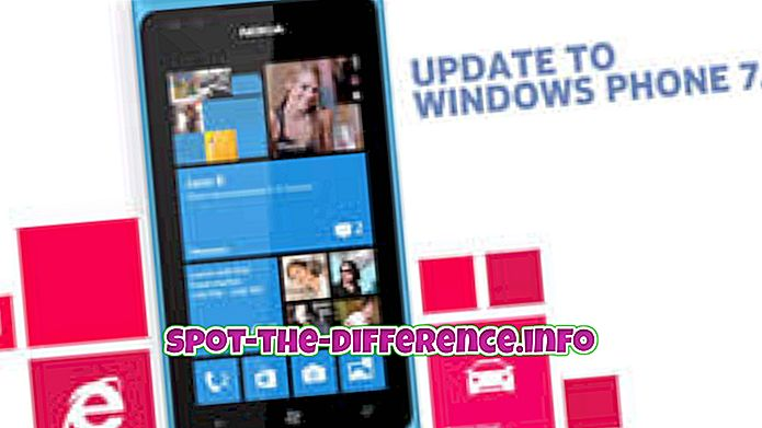 vahe: Erinevus Windows Phone 7.8 ja Windows Phone 8 vahel