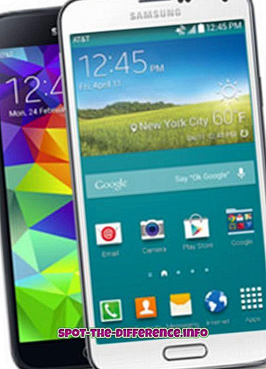 Forskjell mellom Samsung Galaxy S5 og Gear 2