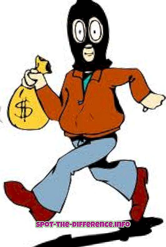 Rozdiel medzi lúpežou a zlodejom