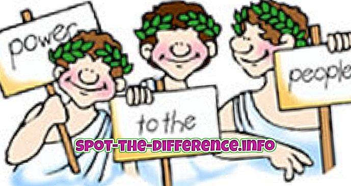a különbség köztük: A közvetlen és reprezentatív demokrácia közötti különbség