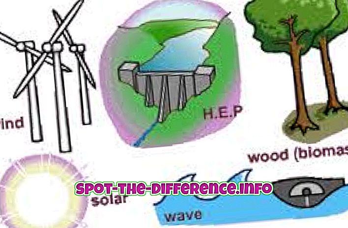 atšķirība starp: Atšķirība starp atjaunojamiem un neatjaunojamiem resursiem