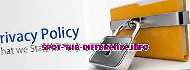 różnica pomiędzy: Różnica między polityką prywatności a wyłączeniem odpowiedzialności