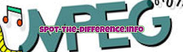 różnica pomiędzy: Różnica między MPEG a MPEG4