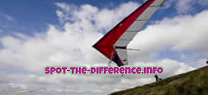 Unterschied zwischen: Unterschied zwischen Segelfliegen und Segelfliegen