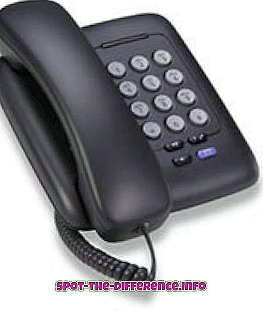 verschil tussen: Verschil tussen analoge en digitale telefoon