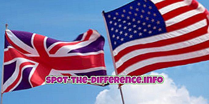 разлика између: Разлика између енглеског и америчког енглеског језика