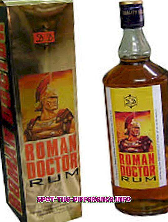 A rum és a vodka közötti különbség