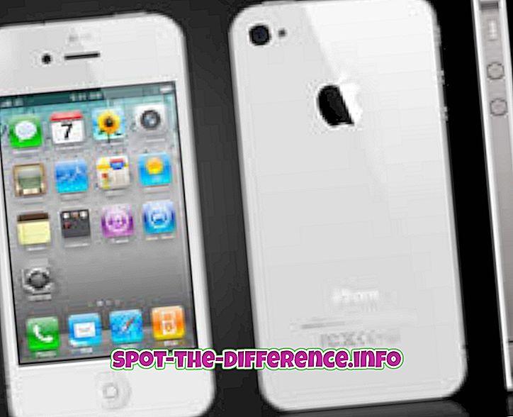 Forskjell mellom iPhone 4S og iPhone 5