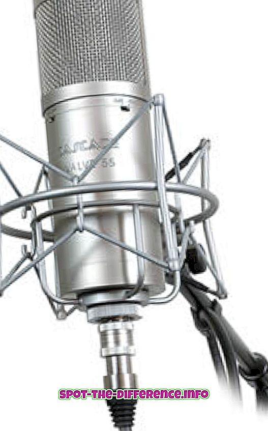 a különbség köztük: A dinamikus mikrofon és a kondenzátor mikrofonok közötti különbség