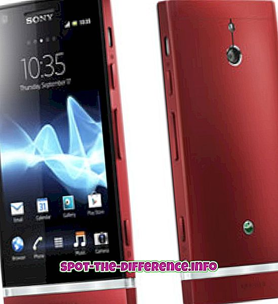 Sony Xperia P와 Alcatel One Touch Idol의 차이점