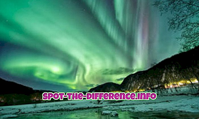 Starpība starp ziemeļu gaismām un Aurora Borealis