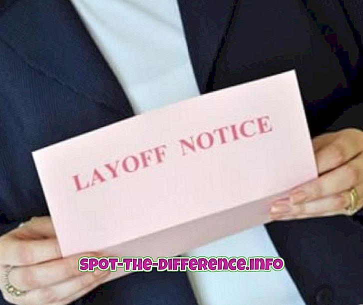 Forskel mellem layoff og opsigelse
