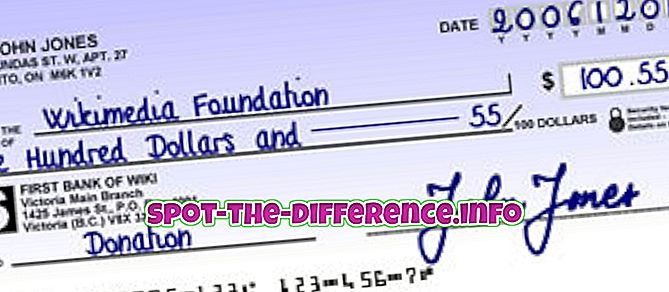 atšķirība starp: Starpība starp čeku un čeku