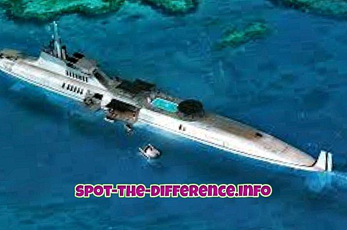Diferencia entre submarino y submarino