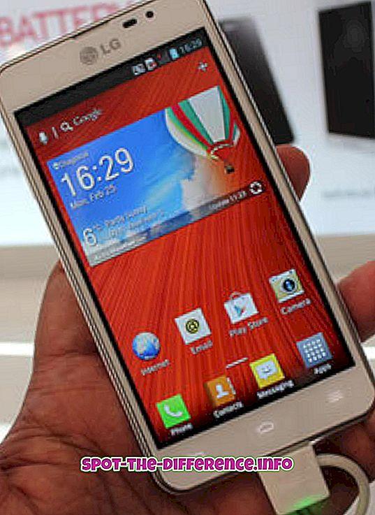 LG Optimus F5와 LG Optimus F7의 차이점