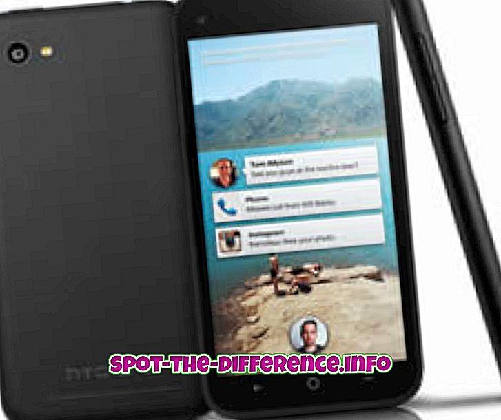 Ero HTC First ja Samsung Galaxy S4 välillä