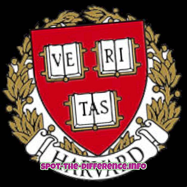 A Harvard College és a Harvard Egyetem közötti különbség