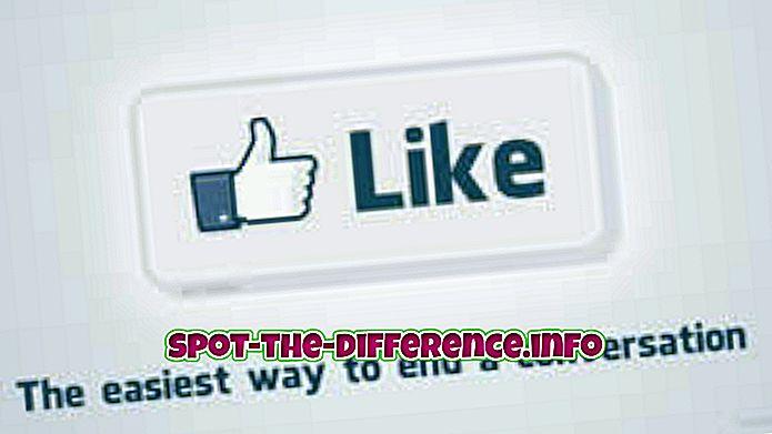 Rozdiel medzi tlačidlami Like a Share na Facebooku