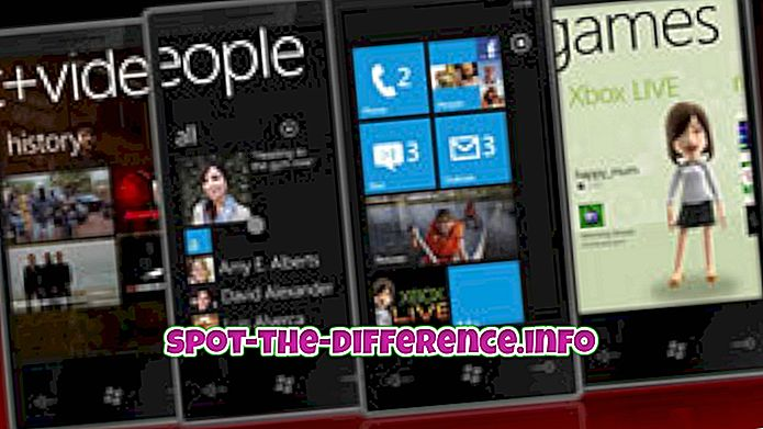 Erinevus Windows Phone 7 ja Windows Phone 8 vahel